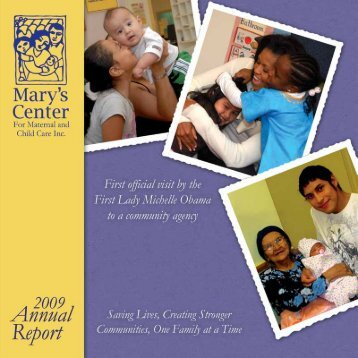 Annual Report 2009 - Mary's Center