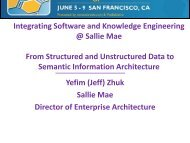 Integrating Software and Knowledge Engineering ... - SemTech 2011
