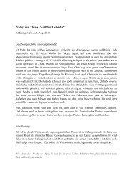 """Predigt zum Thema """"Schiffbruch erleiden"""" Andreasgemeinde, 8. Aug ..."""