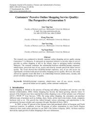 Customers' Perceive Online Shopping Service Quality - EuroJournals