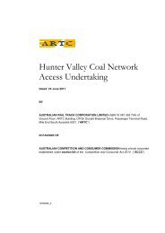 Hunter Valley Coal Network Access Undertaking - Australian Rail ...