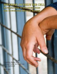 THINKING OUTSIDE THE CELL: - National Center for Youth Law