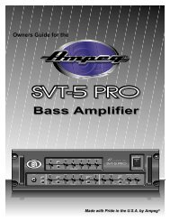 Bass Amplifier - Ampeg