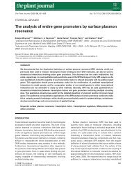 The analysis of entire gene promoters by surface plasmon resonance