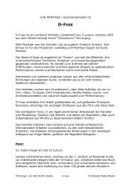 D-FUSE - Digital Media For Artists