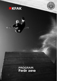 KFAK program forår 2010 - Selskabet for Dansk Fotografi