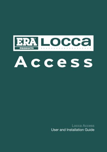 Locca Access User and Installation Guide