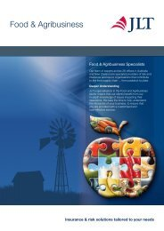 Food & Agribusiness Brochure - JLT