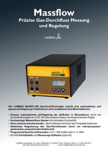 Präzise Messung und Regelung des Gas-Durchflusses - Lambda ...