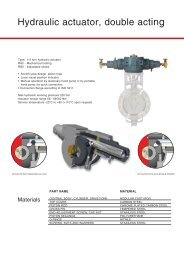 Hydraulic actuator, double acting