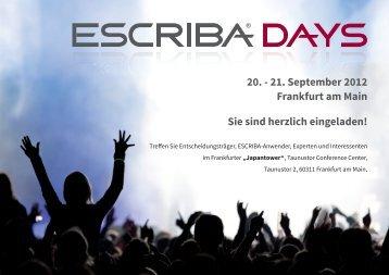 21. September 2012 Frankfurt am Main Sie sind herzlich ... - ESCRIBA