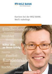 Übergreifende Karriere-Broschüre (pdf,844 kB) - WGZ Bank