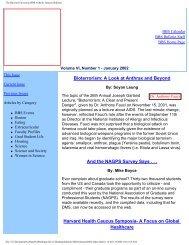 January 2002 - Division of Medical Sciences Bulletin - Harvard ...