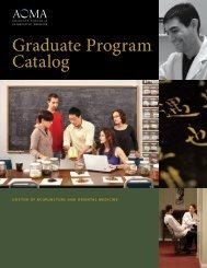 Graduate Program Catalog - AOMA Graduate School of Integrative ...