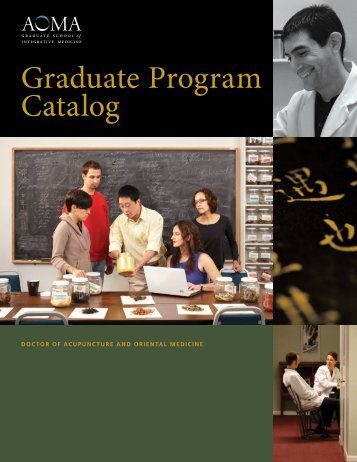 Graduate Program Catalog - AOMA Graduate School of Integrative ...