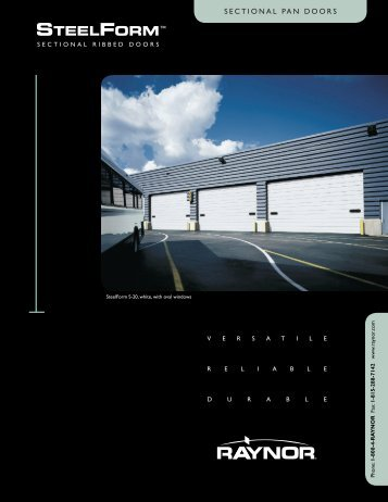 Download SteelForm Brochure PDF file - Raynor Garage Doors