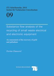 Substance flow analysis of the recycling of small waste ... - OPUS4