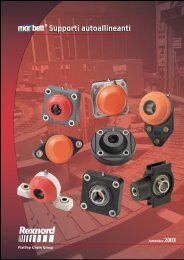 Supporti autoallineanti Catalogue Bearings - Tecnica Industriale S.r.l.