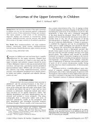 Sarcomas of the Upper Extremity in Children
