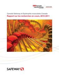 Rapport sur les recherches en cours, 2010-2011