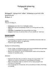 Pedagogisk planering Bild
