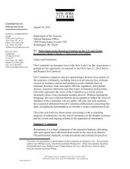 Letter to the Federal Insurance Office (FIO) - New York City Bar ...