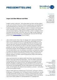 PRESSEMITTEILUNG - Väteraufbruch für Kinder e. V.: Startseite