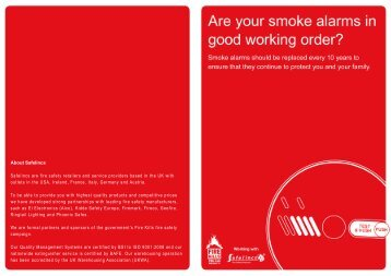 Smoke Alarms - Safelincs
