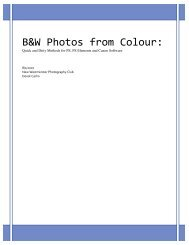 Creating B/W Images from Colour - New Westminster Photography ...