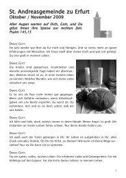 Gemeindebrief Oktober / November 2009 - andreasgemeinde-erfurt ...