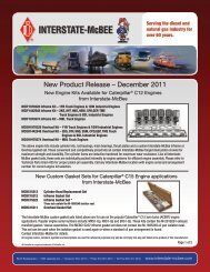 New Product Release – December 2011 - Interstate McBee