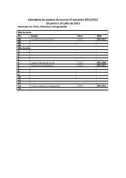 Calendário de Exames 2º Semestre 2º Ciclo 2011/2012 - ICS
