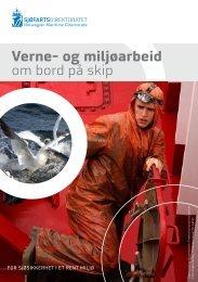 Verne- og miljøarbeid om bord på skip - Sjøfartsdirektoratet