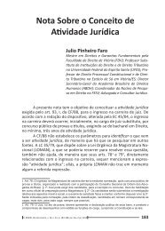 Nota sobre o Conceito de Atividade Jurídica - Emerj