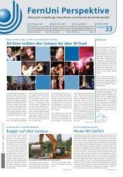 Nr. 33 / Herbst 2010 (pdf, 1,6 MB) - FernUniversität in Hagen