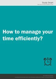 How to manage your time efficiently? - The University of Hong Kong