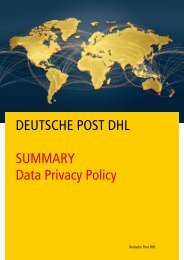 DPDHL Privacy Policy