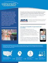 Download the Personiphi Fact Sheet - National Grocers Association