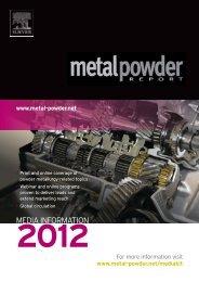 Editorial - Metal Powder Report