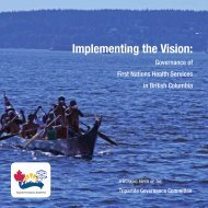 Implementing the Vision: - First Nations Health Council