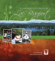 Politique culturelle - Municipalité de Lac-Beauport