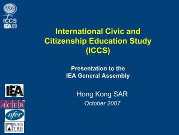 International Civic and Citizenship Education Study (ICCS) - IEA
