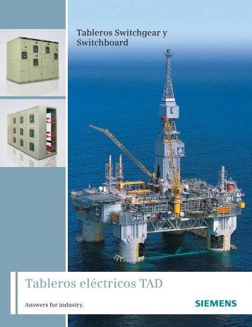 Tableros Tipo TAD - Industria de Siemens