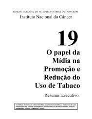 O papel da Mídia na Promoção e Redução do Uso de Tabaco