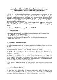 Satzung über die Form der öffentlichen ... - Rothenburg