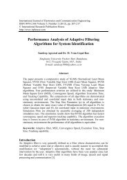 Performance Analysis of Adaptive Filtering Algorithms for System ...
