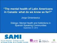 what do we know so far? - CAMH Knowledge Exchange