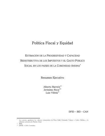 Política Fiscal y Equidad - Comunidad Andina