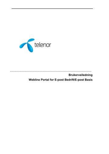 Brukerveiledning Webline Portal for E-post Bedrift/E-post ... - Telenor