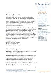 Einladung zum Pressegespräch BERLIN (20. Januar ... - Heilberufe